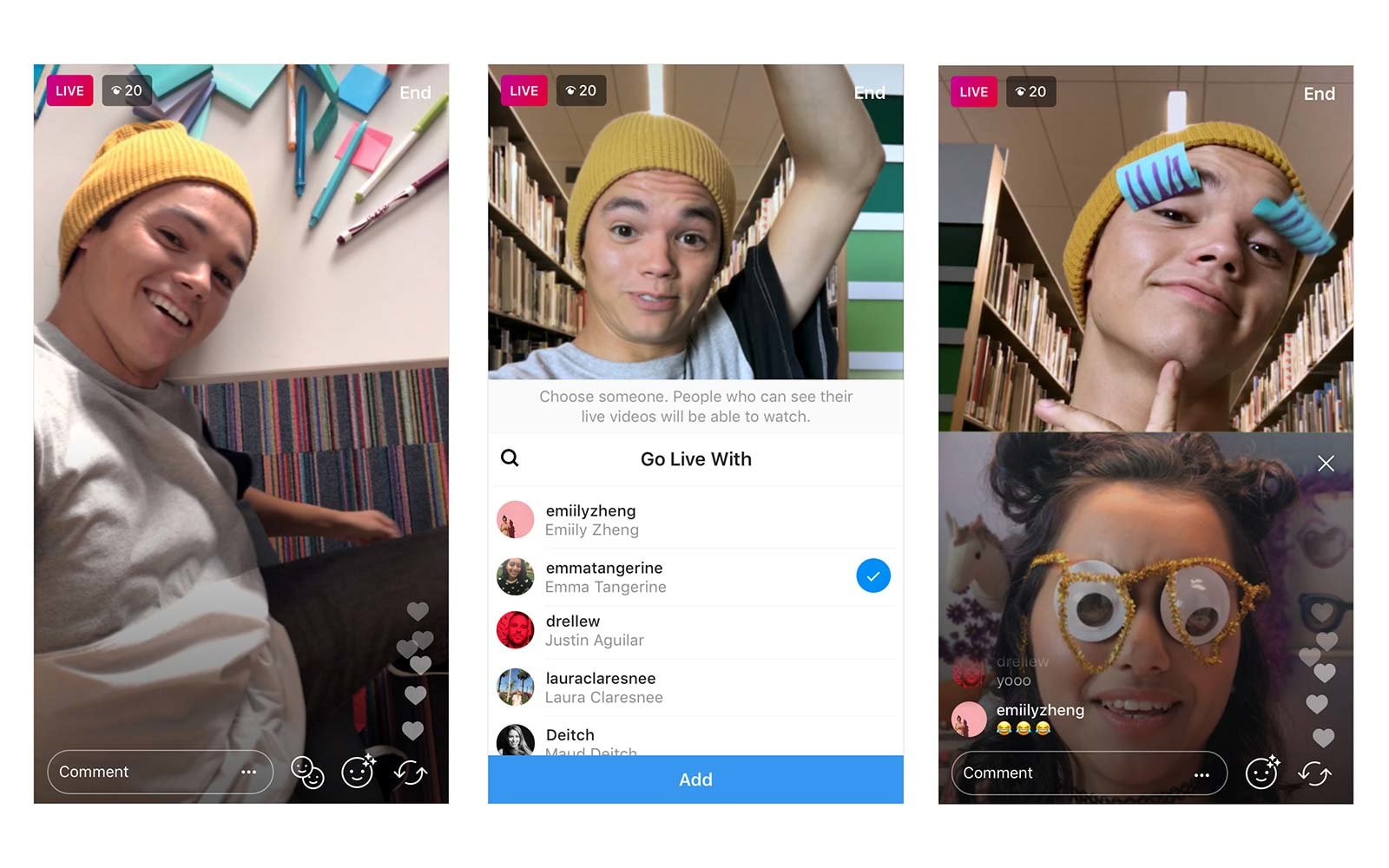 instagram global live stream friends collaborate
