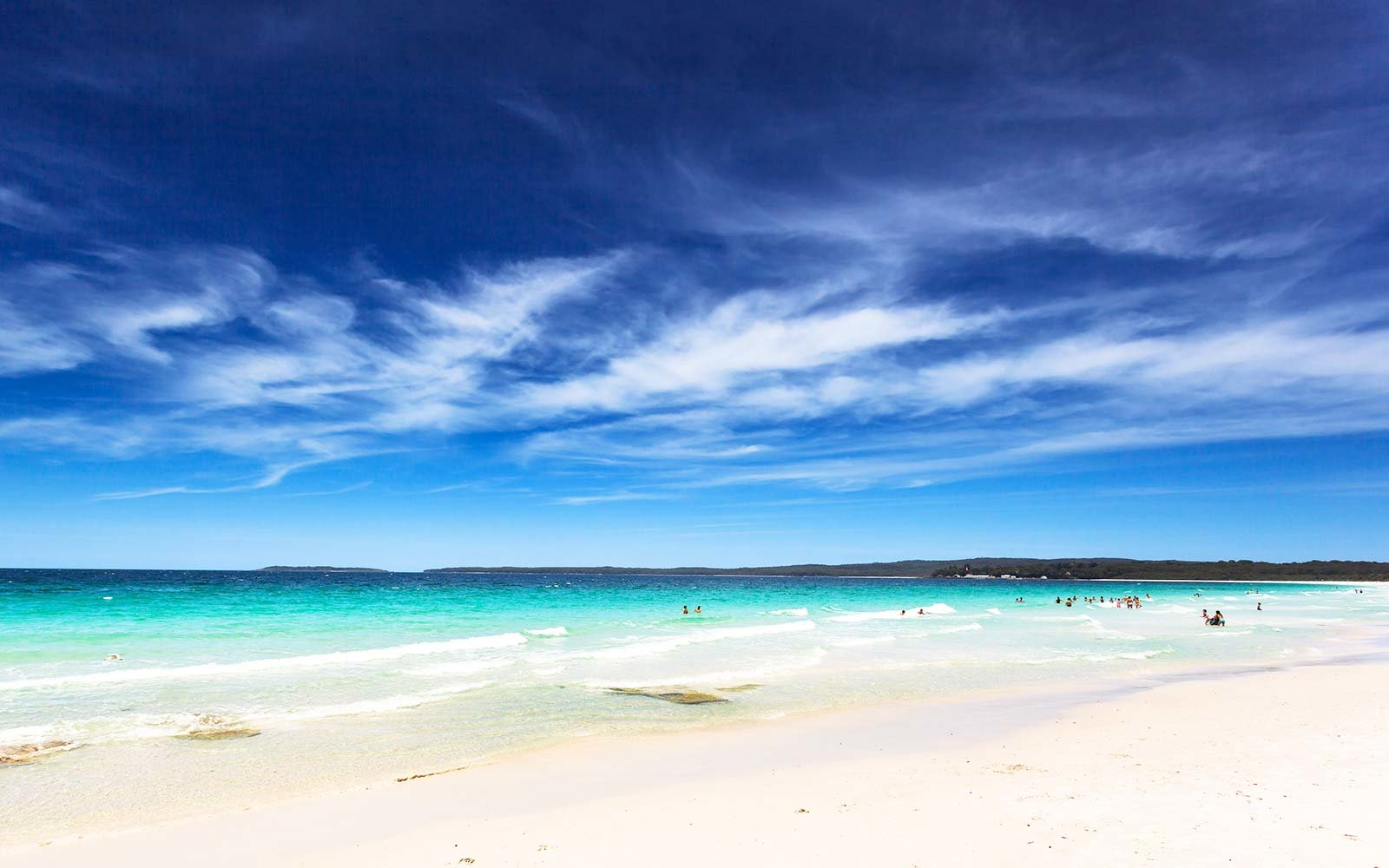 white sand beach hyams australia