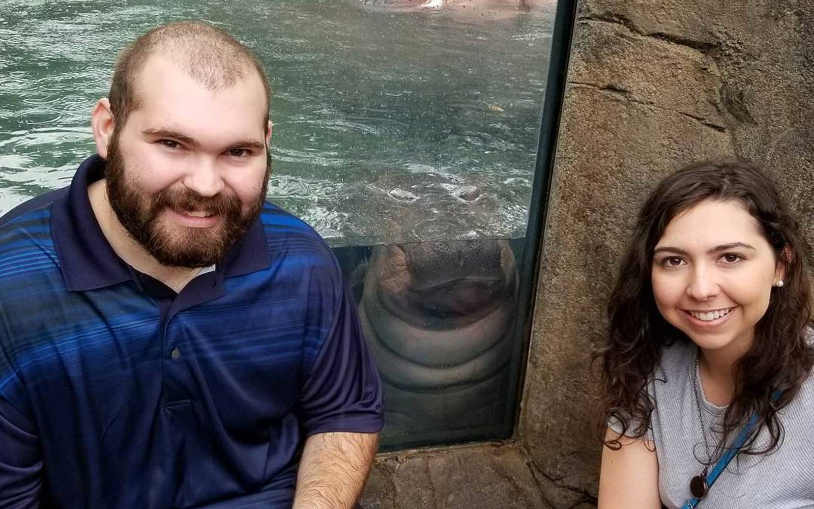 Couple Proposes At Zoo