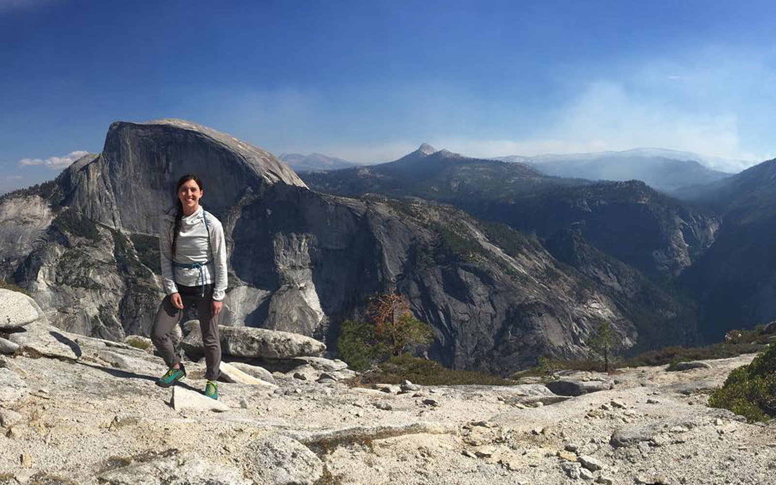 Lauren Ford hiking Yosemite