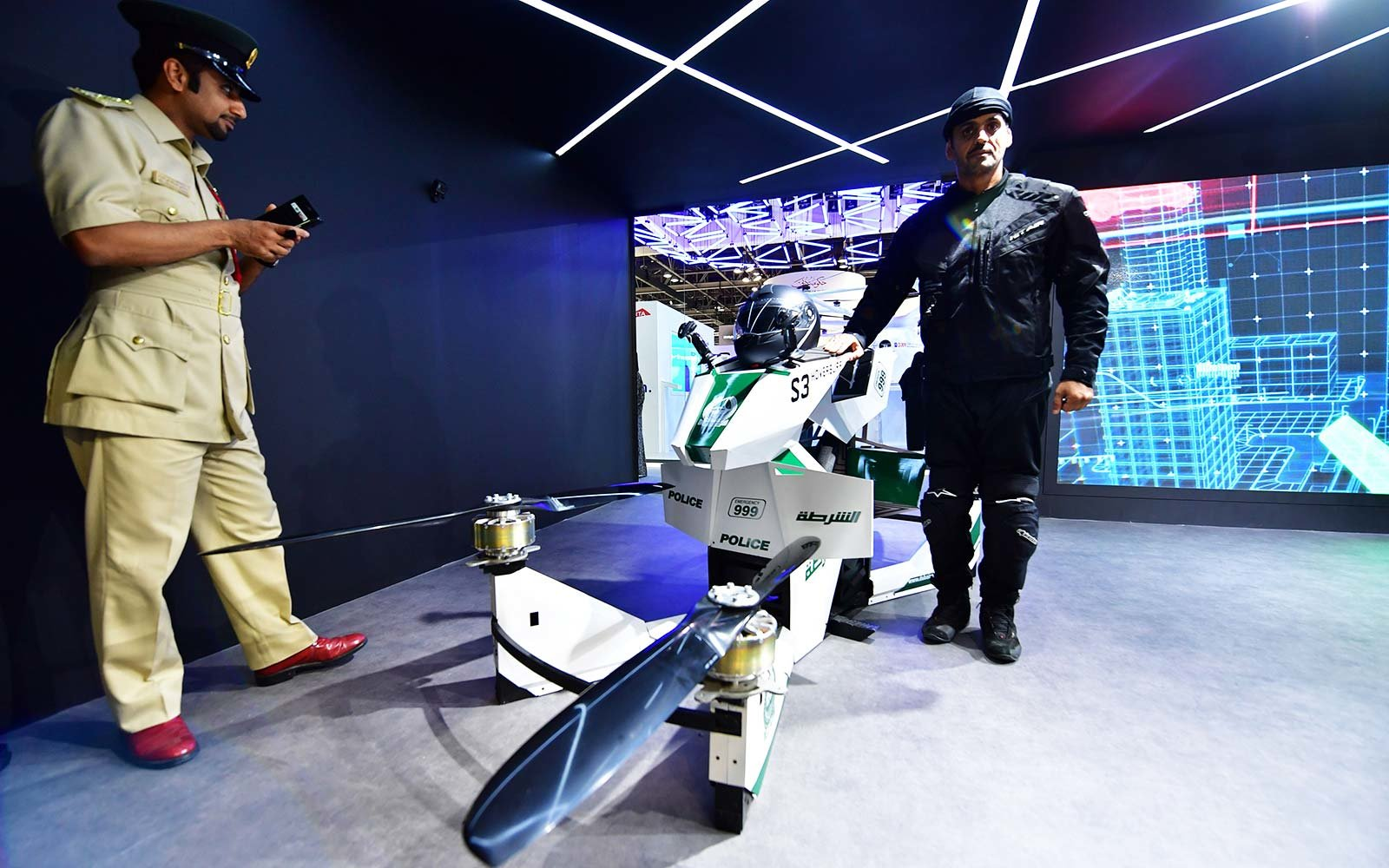 dubai united arab emirates police force hoverbike