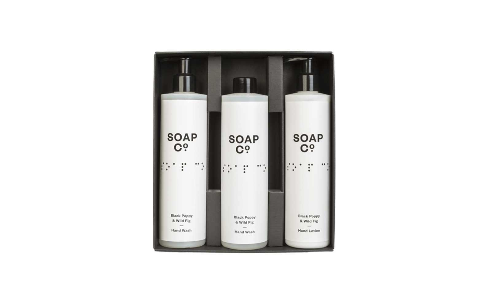 Soap Co's Black Poppy and Wild Fig Shower Gel Trio
