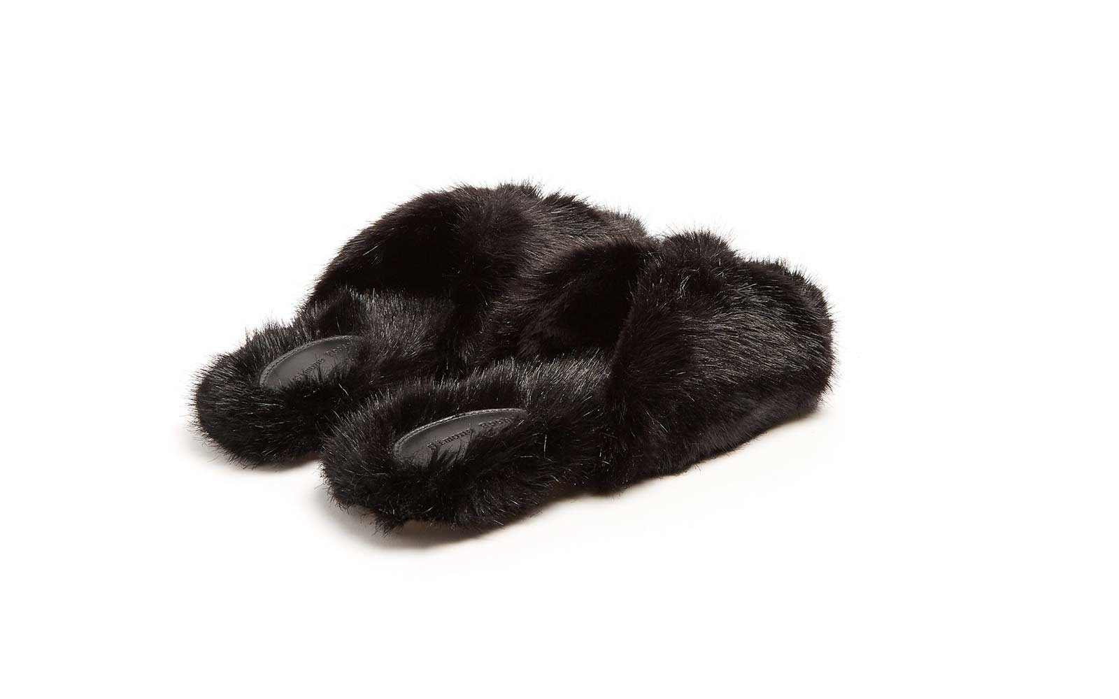simone rocha faux fur slide sandals