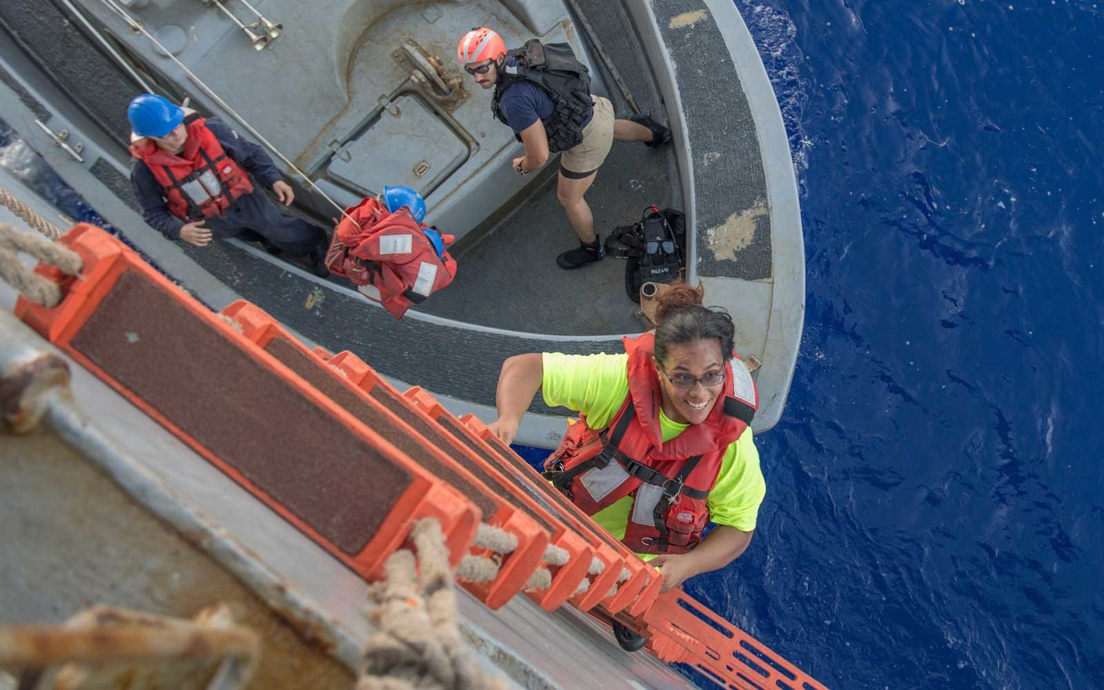 U.S. Navy Rescues Women Lost at Sea