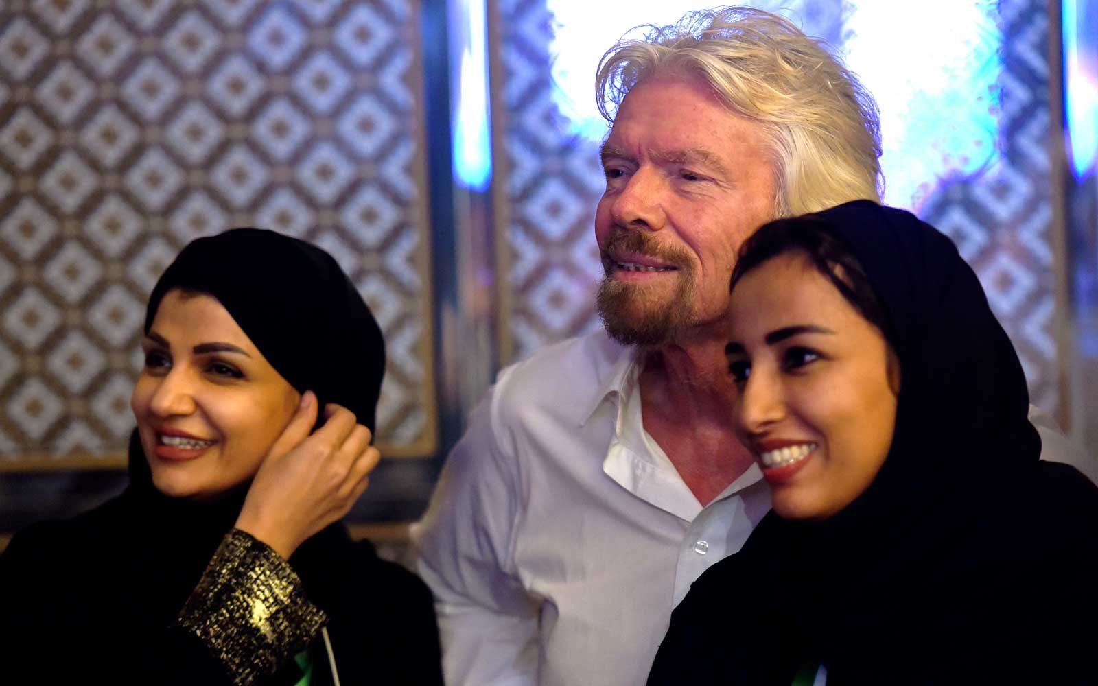 Richard Branson in Saudi Arabia