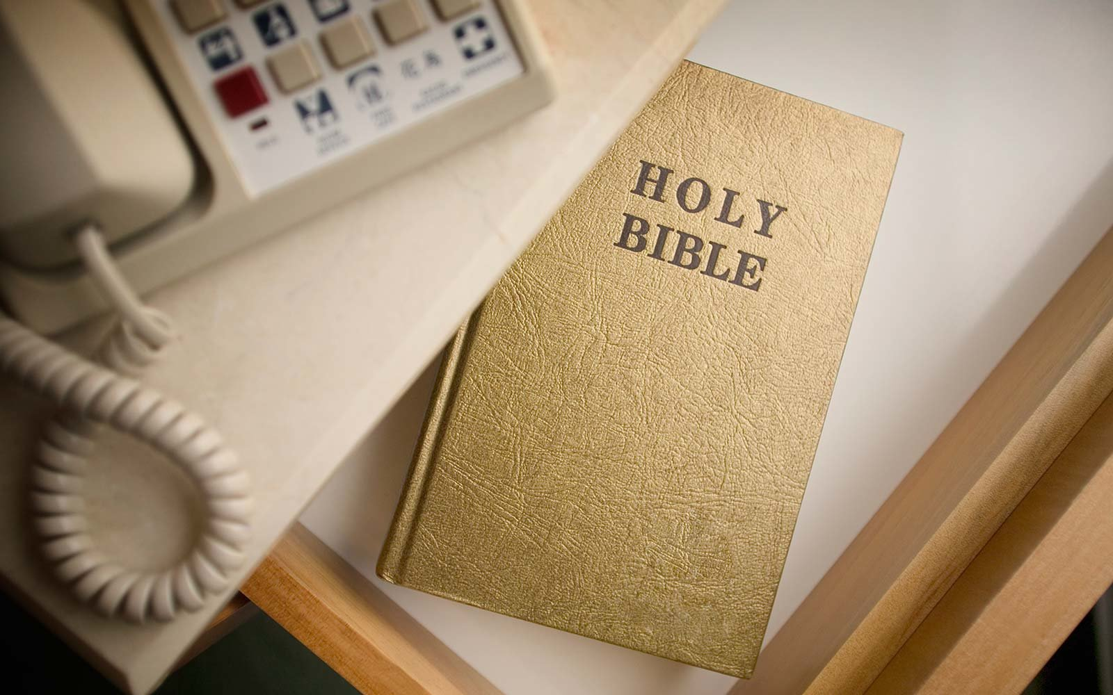 hotel bed holy bible