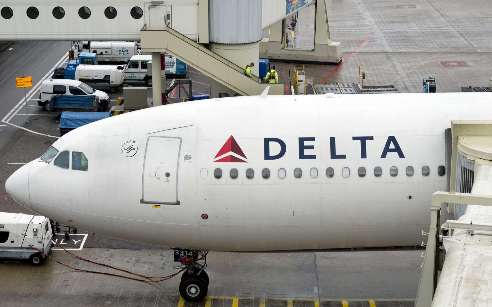 Delta Airlines airplane at gate