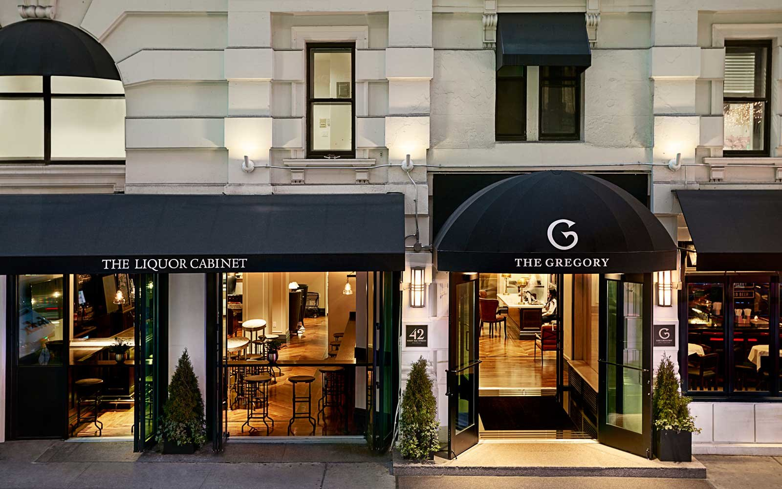 The exterior of the Gregory Hotel New York
