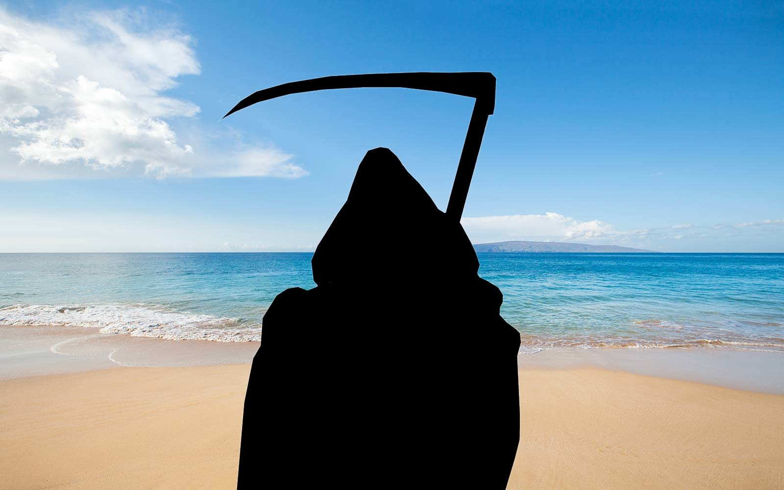 The swim reaper makes everyone 39 s basic beach instagrams look ghoulish travel leisure for Travel swimsuit
