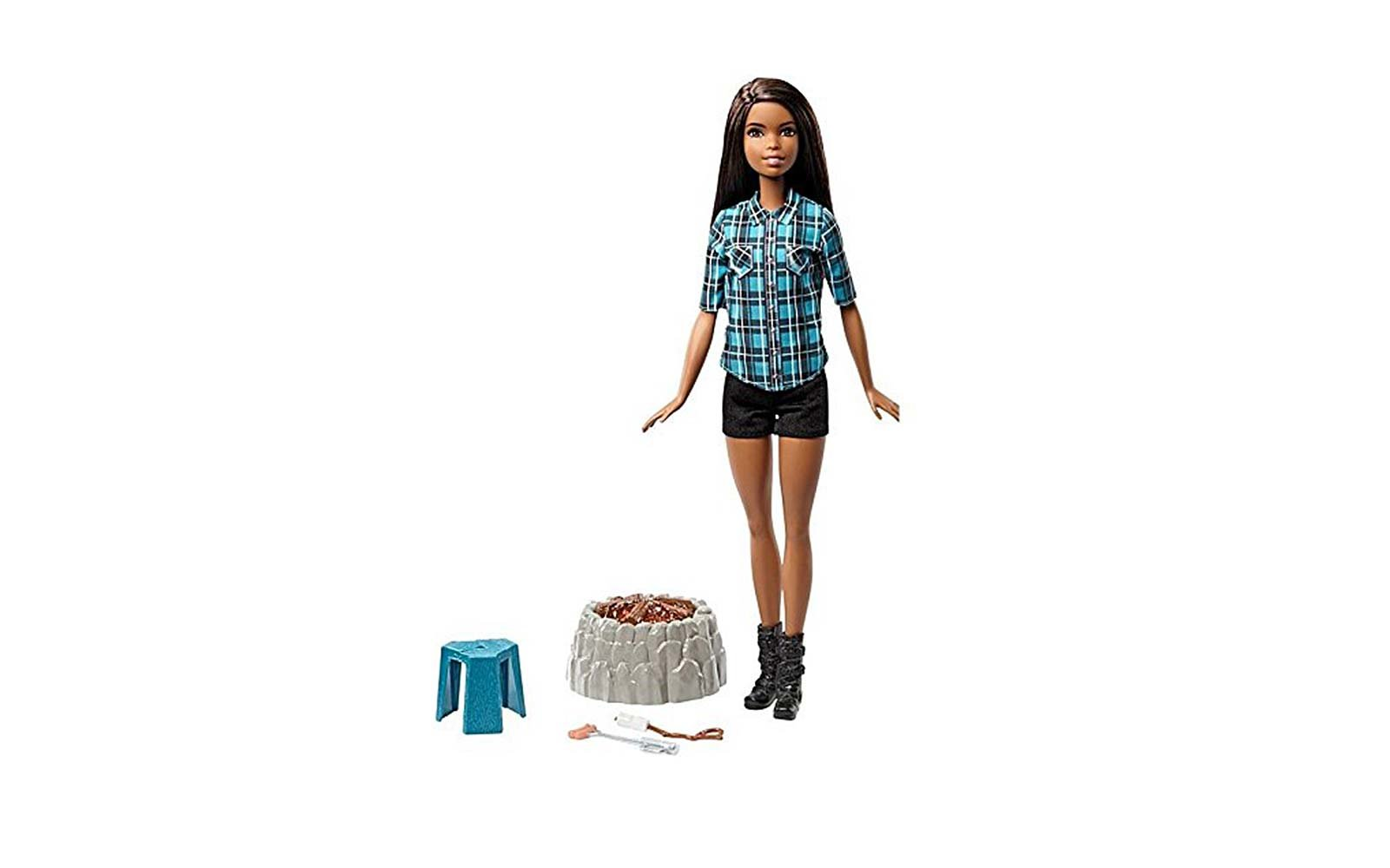 barbie camping doll
