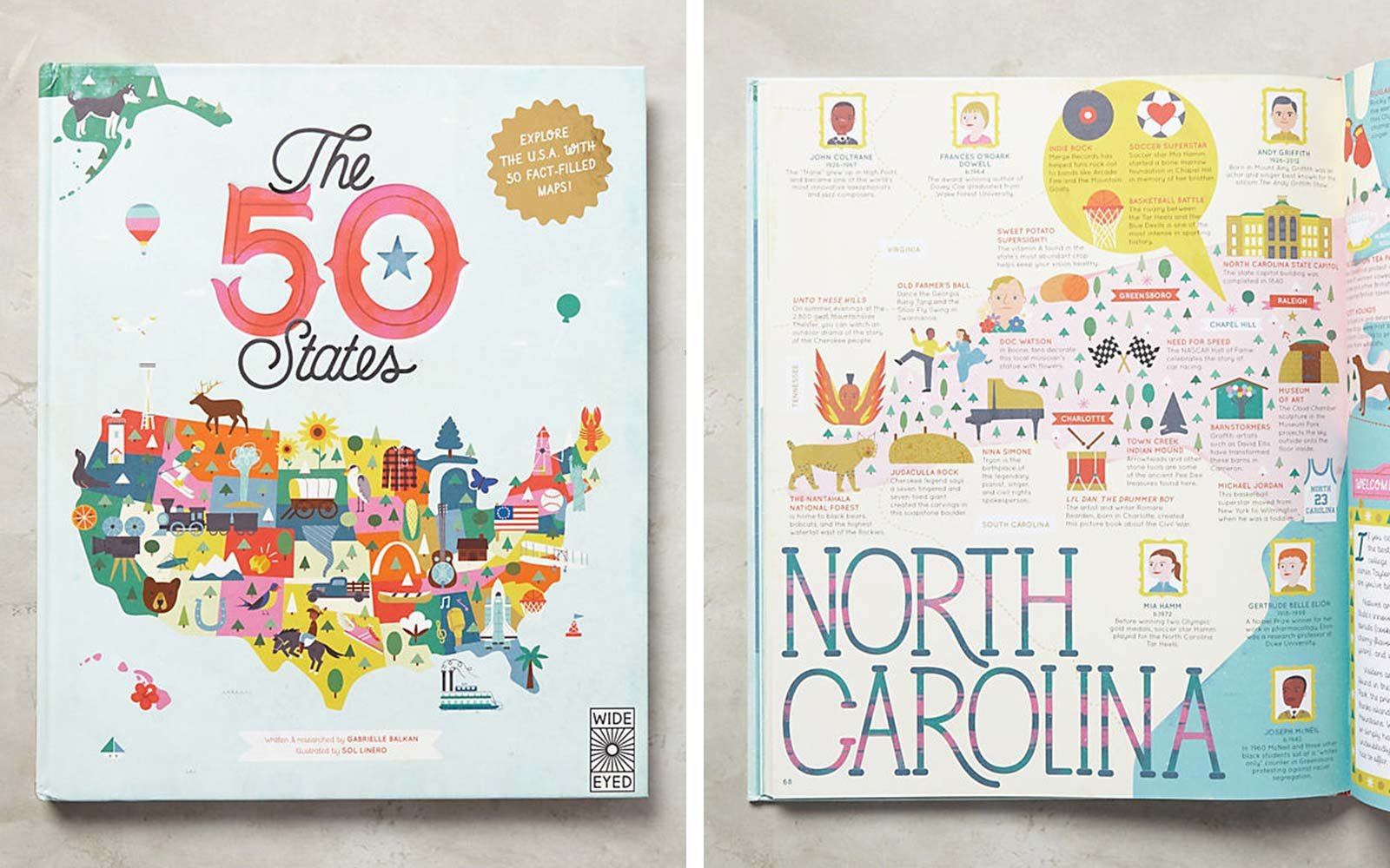 fifty states usa childrens book
