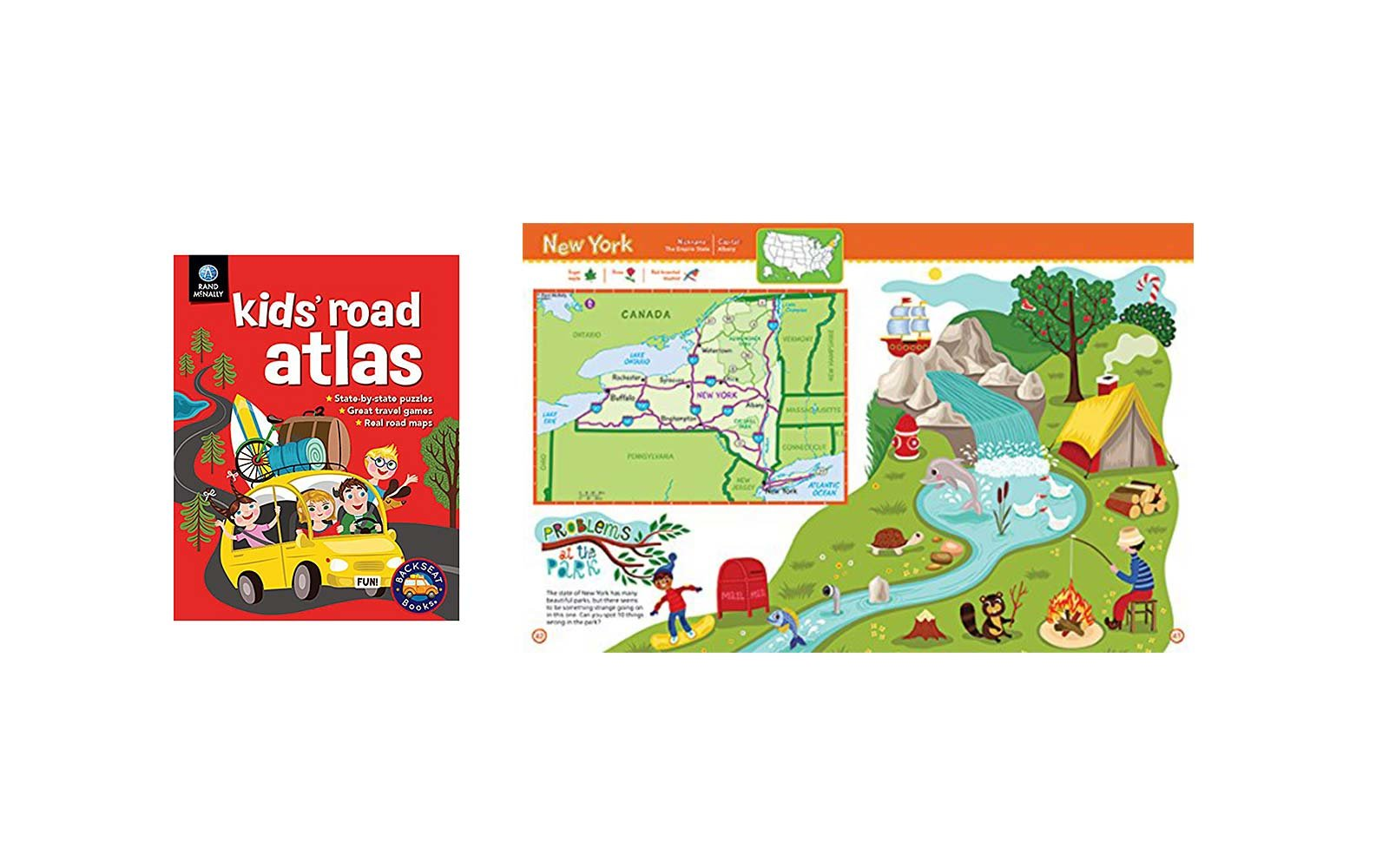 kids road atlas book map
