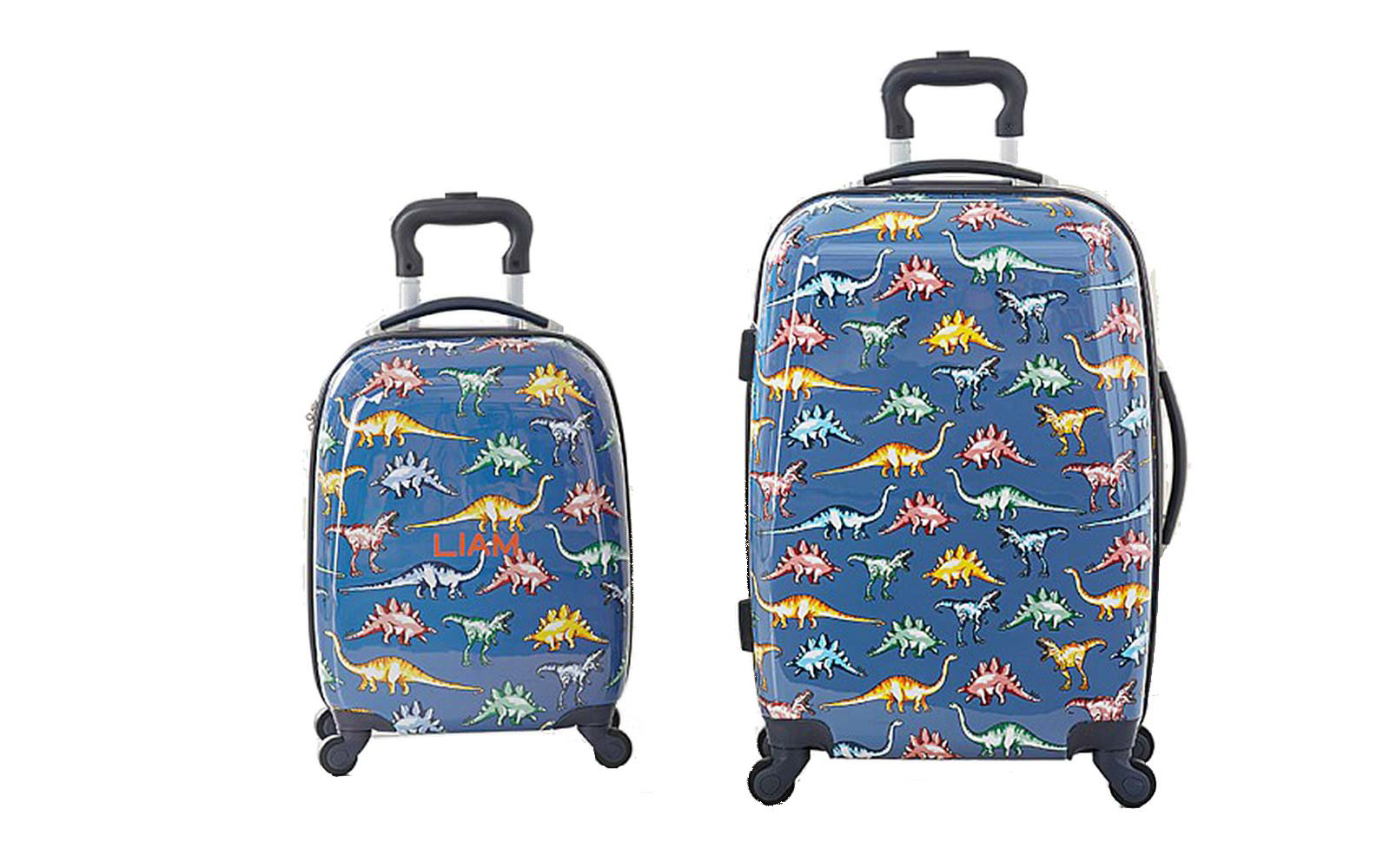 Mackenzie Blue Multicolor Dino Hard-sided Spinner Luggage