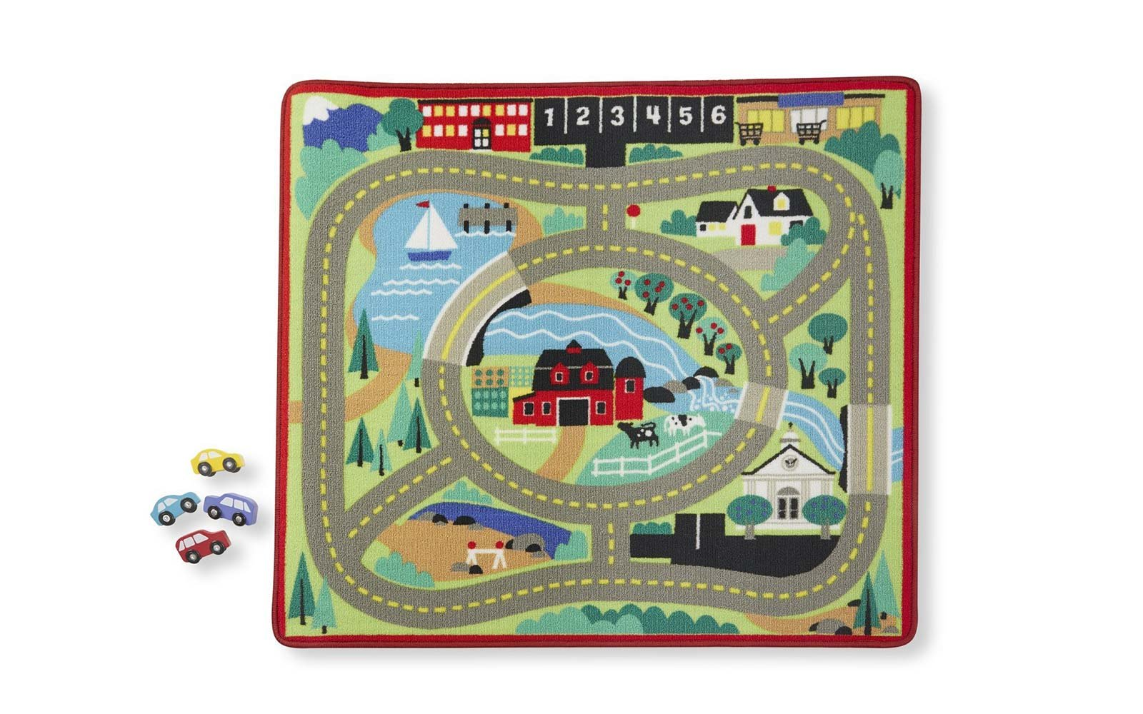 melissa and doug rug car play set