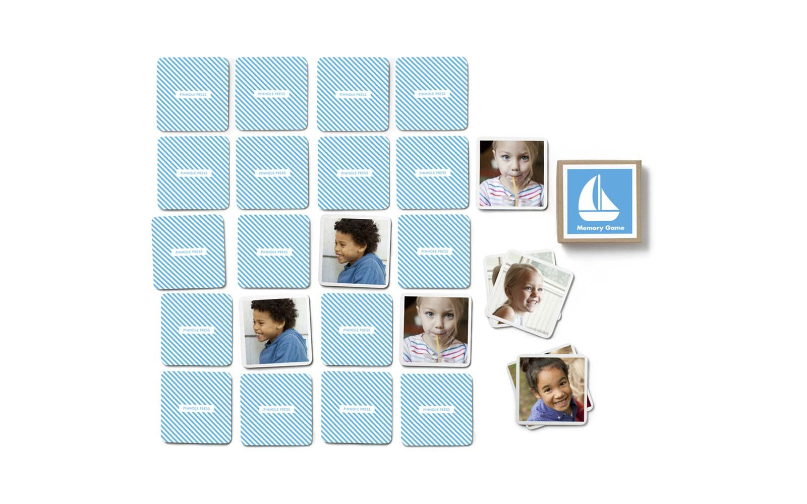 pinhole press custom memory card game toy