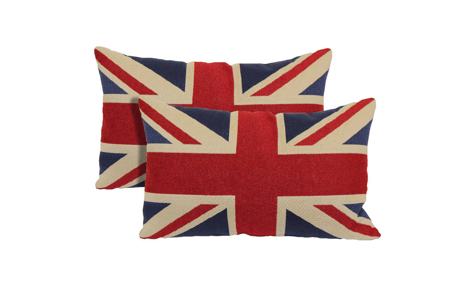 Red Union Jack Toss Throw Pillow