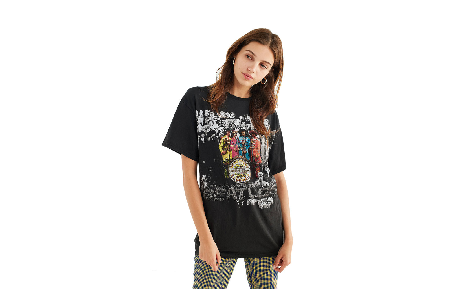 Urban Outfitters Junk Food The Beatles Exploded Shirt