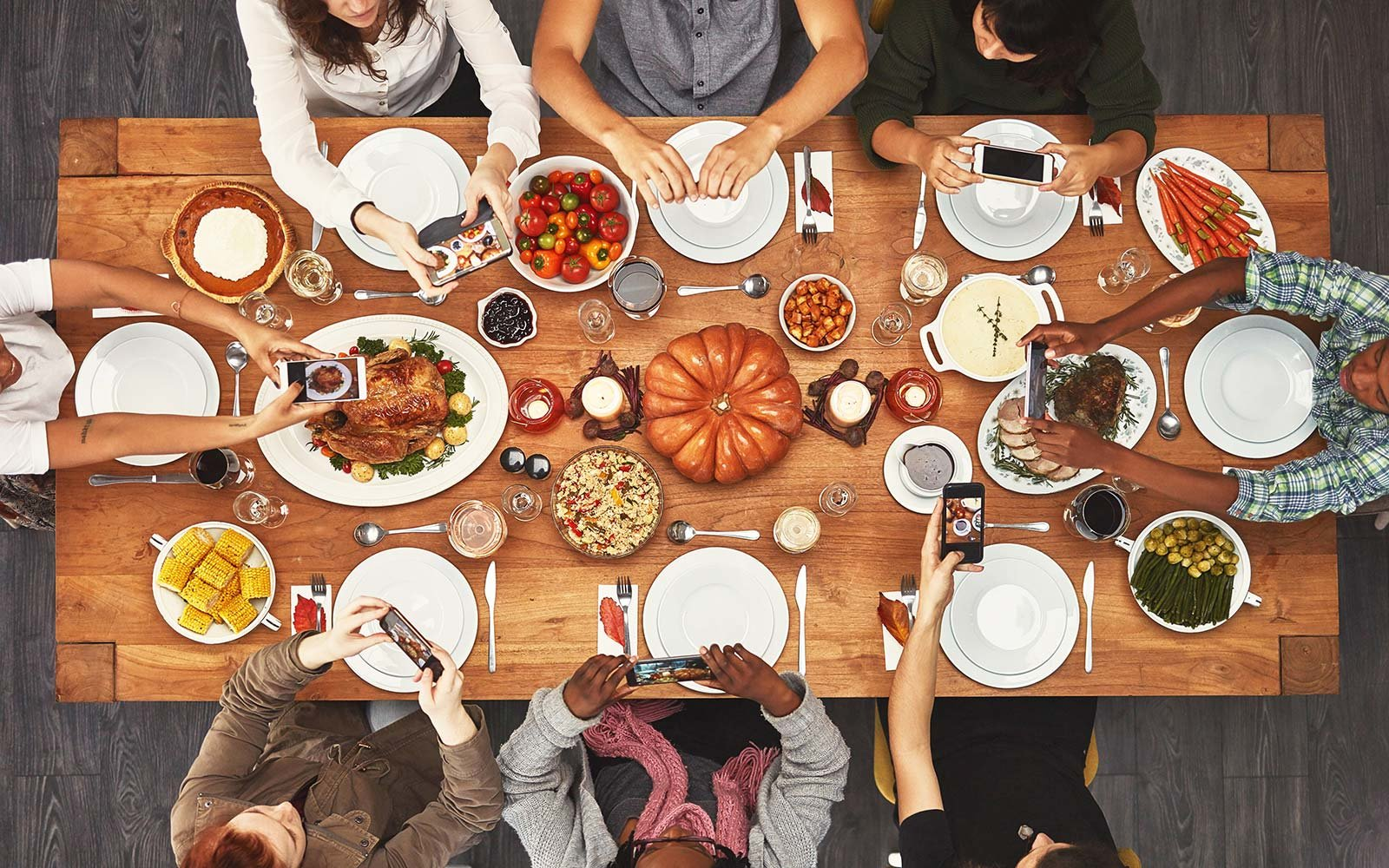 thanksgiving holiday dinner meal instagram caption