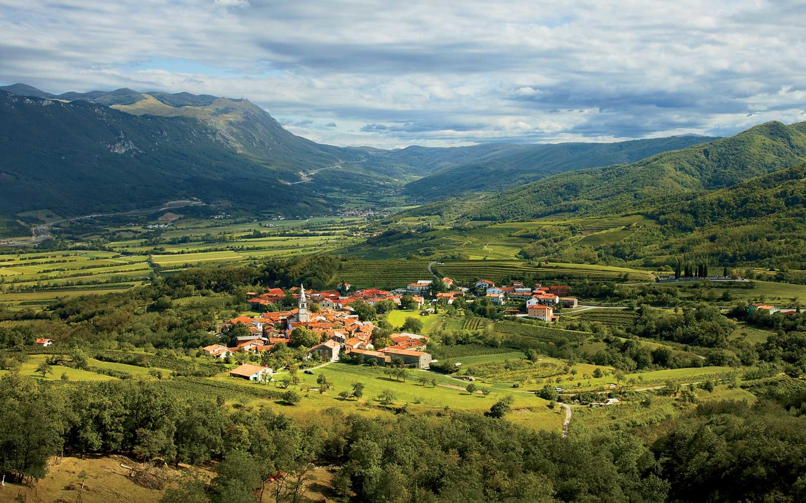 Village of Goce located at the Vipava valley, Slovenia