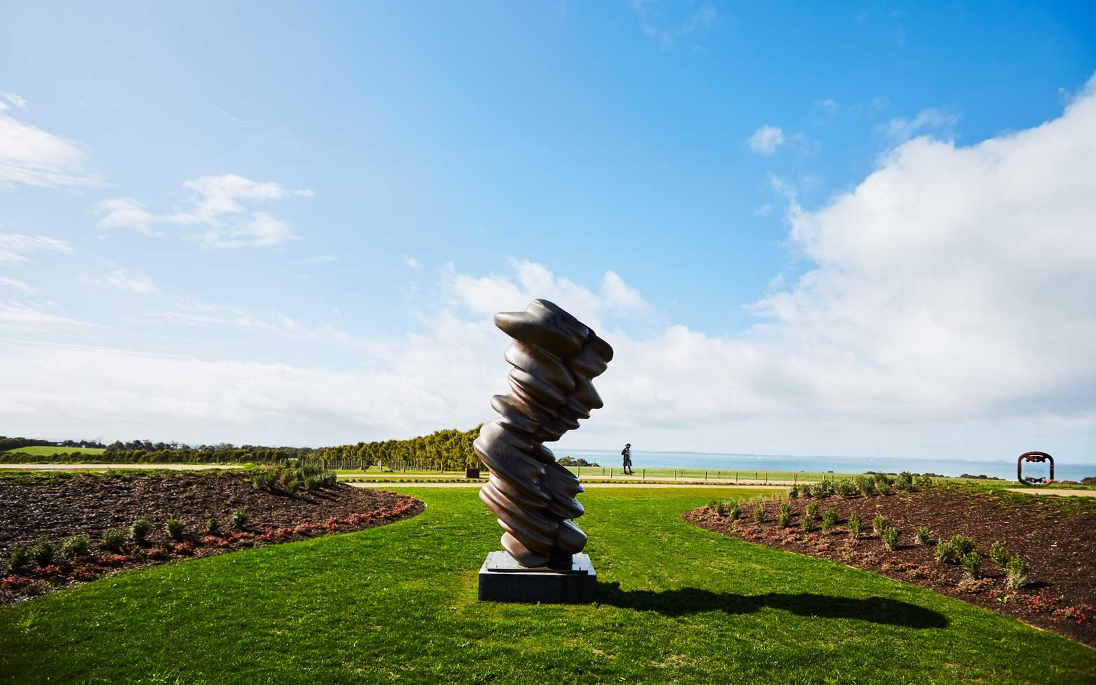 Tony Cragg sculpture at Pt Leo Estate, on Australia's Mornington Peninsula