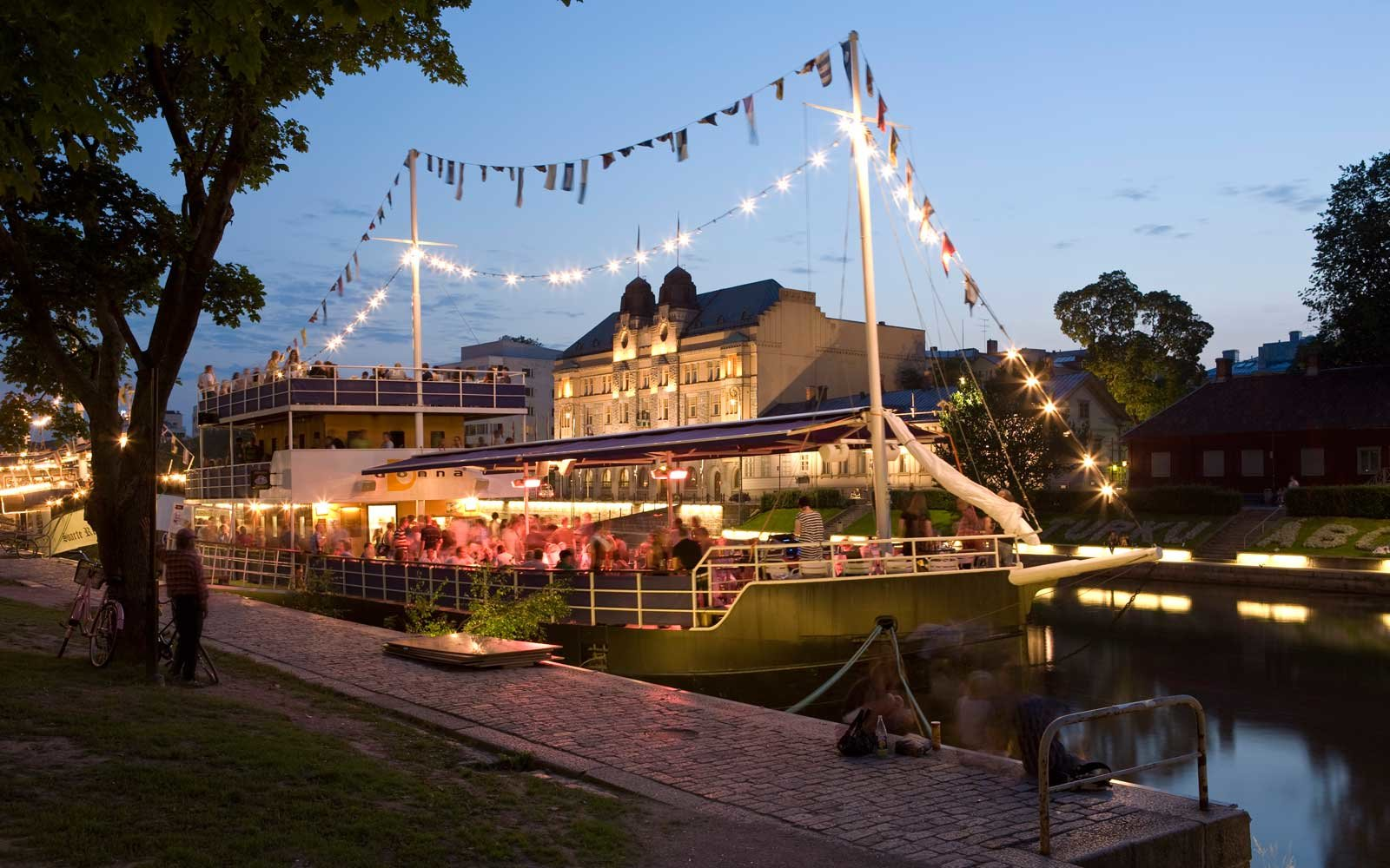 Floating Restaurant in Turku, Finland