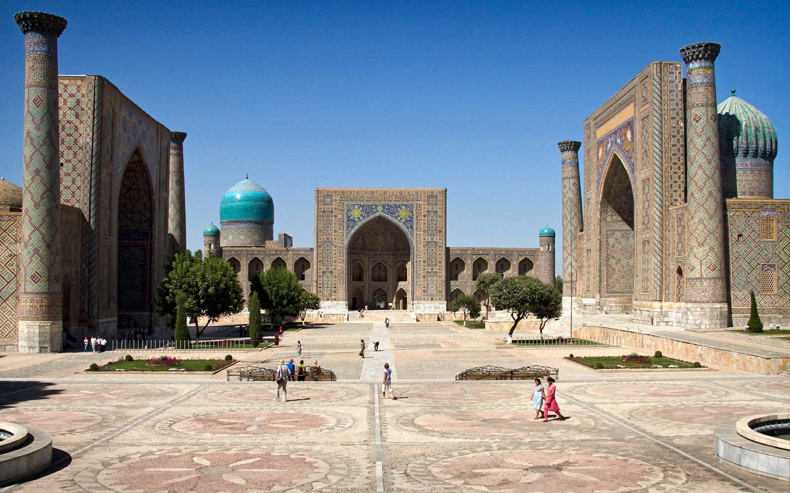 Registrar buildings in Samarkand, Uzbekistan