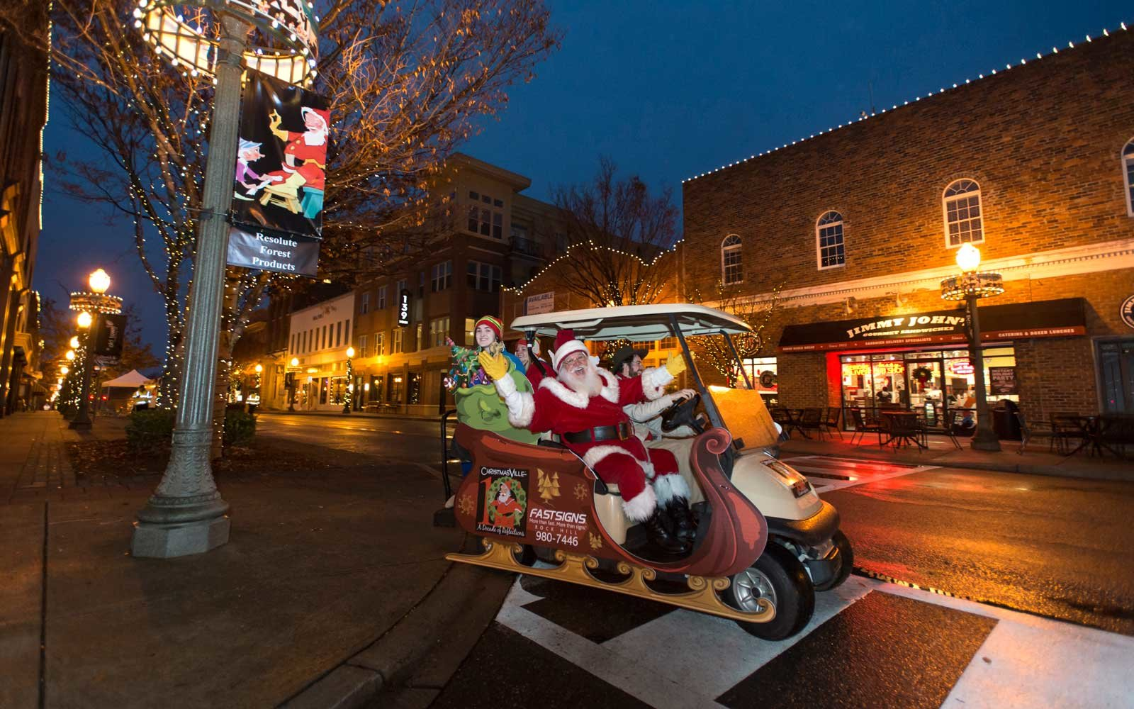 December 03, 2016 Rock Hill, SC Children and adults enjoy Santa during Christmasville in Old Town
