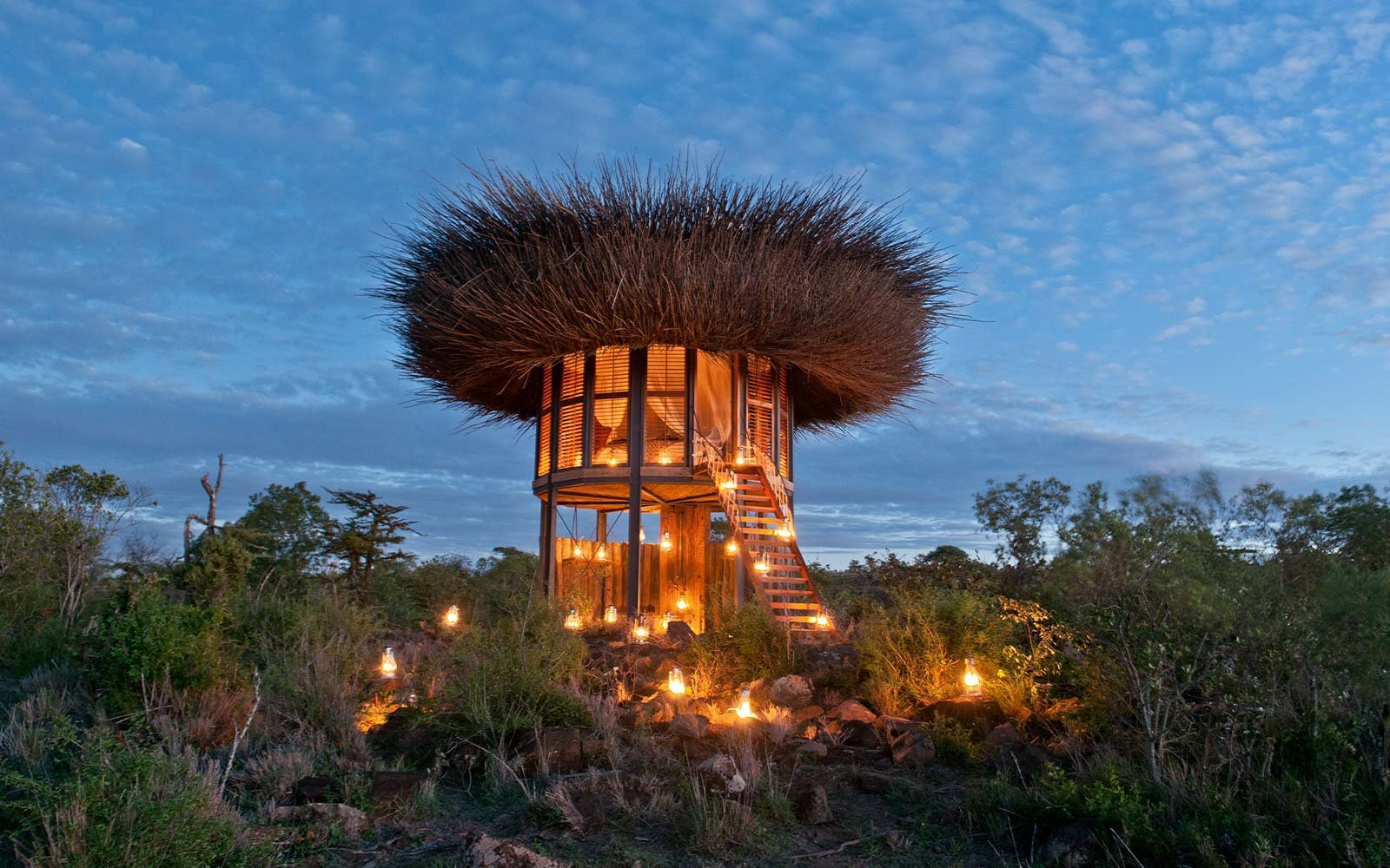 bird nest hotel nay palad segera retreat africa safari accommodation luxury