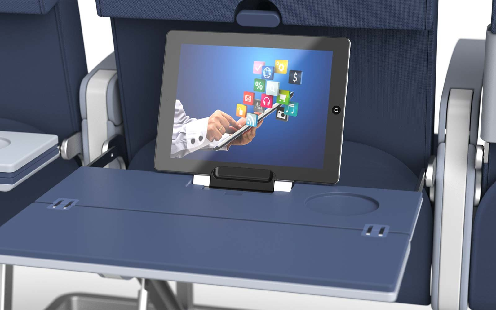 astronics technology aviation wireless charging tray airplane