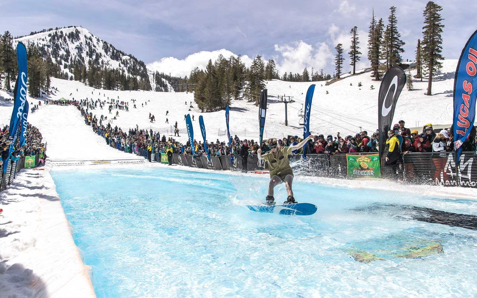 Maammoth Pond Skim Mammoth California