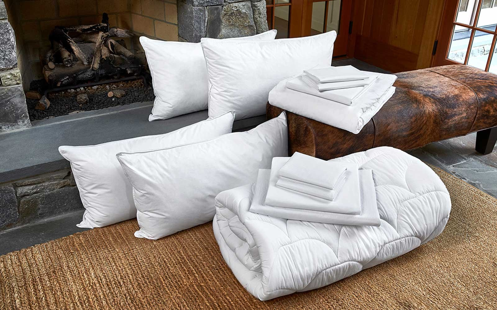 the best hotel bedding and pillows to use at home travel leisure. Black Bedroom Furniture Sets. Home Design Ideas