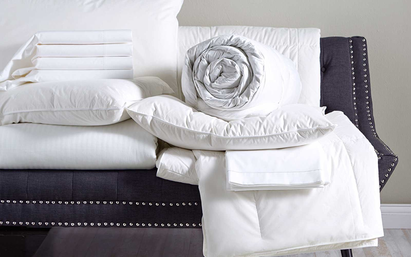 The W Wrinkle Resistant Bed Sheets And Feather U0026 Down Pillow
