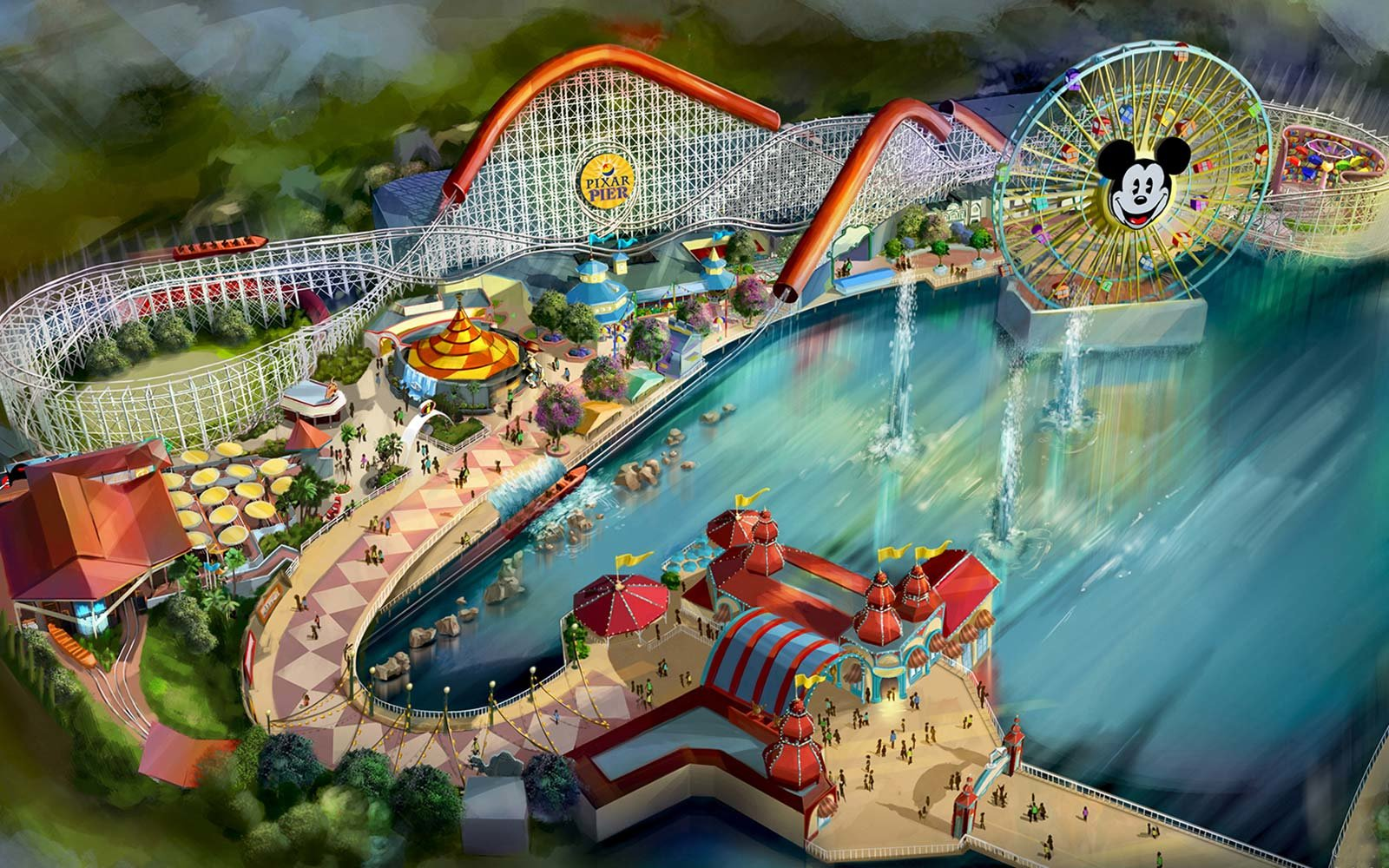 pixar pier roller coaster amusement park disneyland resort