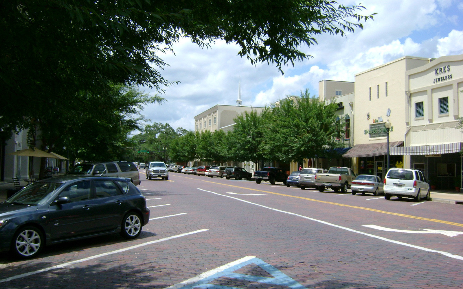 City streets of Thomasville, Goergia, United States of America
