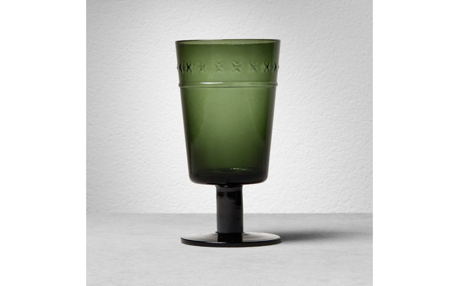 Hearth & Hand with Magnolia: Green Glass Goblet