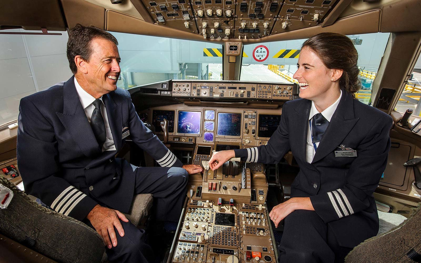 kathryn and dvaid woodruffe british airways airline pilots father daughter