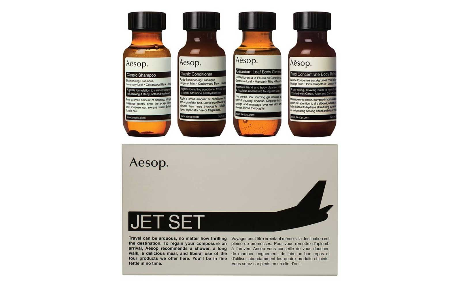 Aesop travel size toiletries