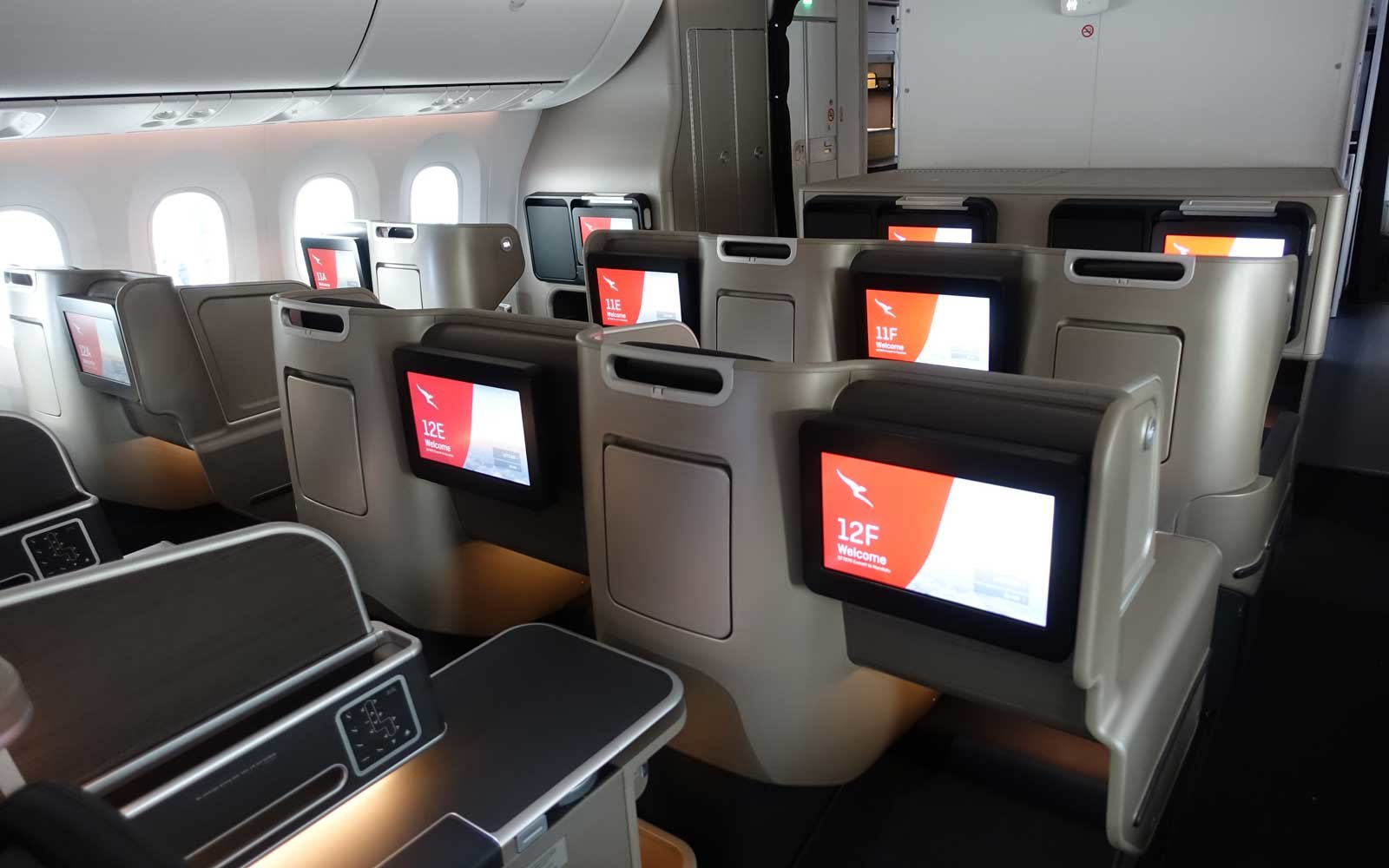 Qantas Business Seat Screen