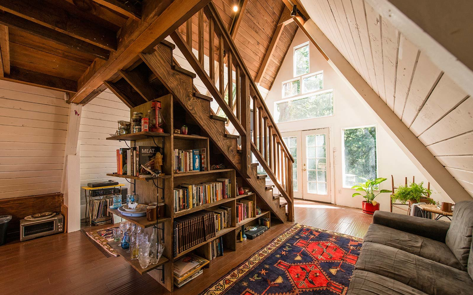 cozy a-frame redwood california cabin airbnb rental