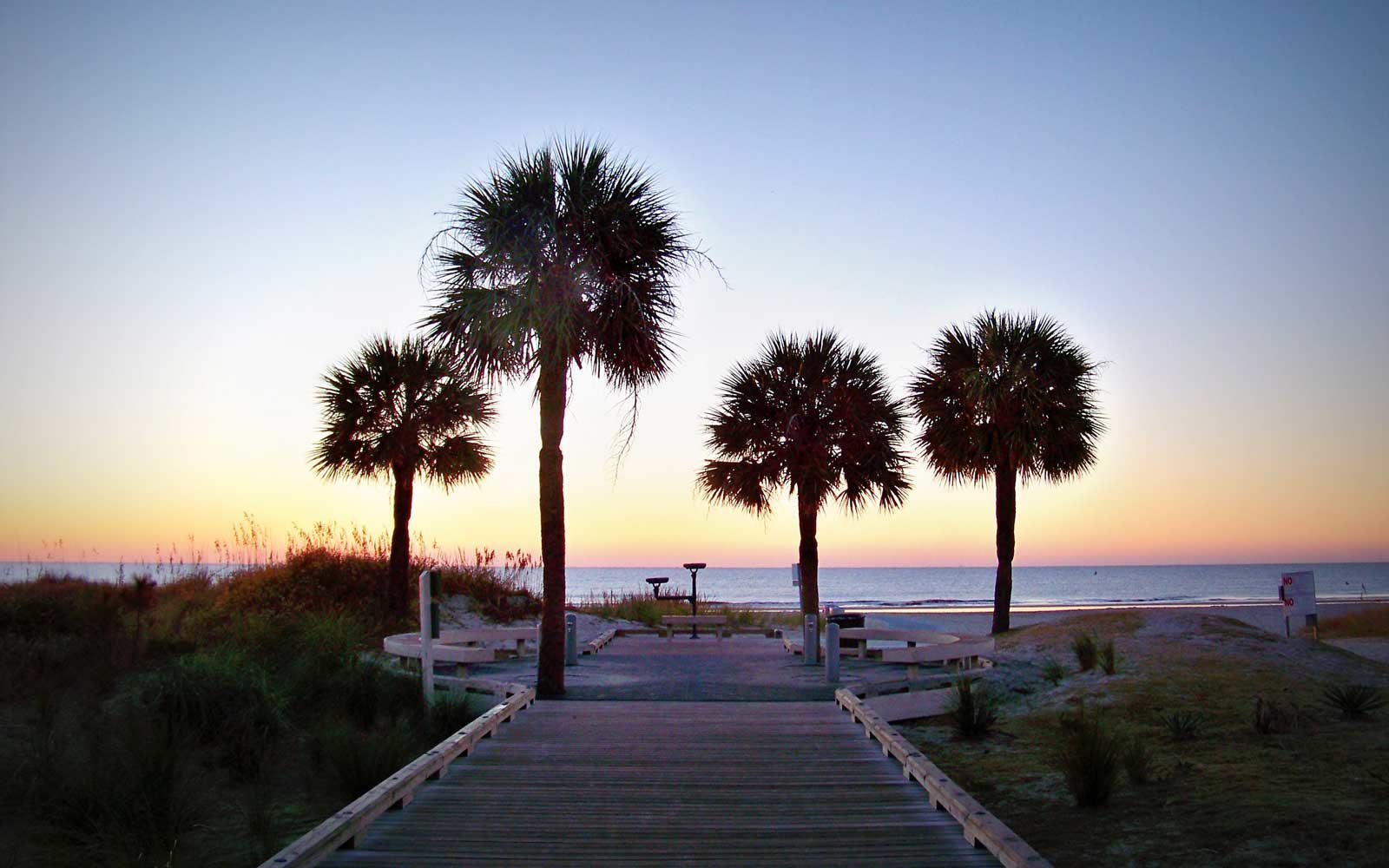 Sunrise at Hilton Head Boardwalk, SC