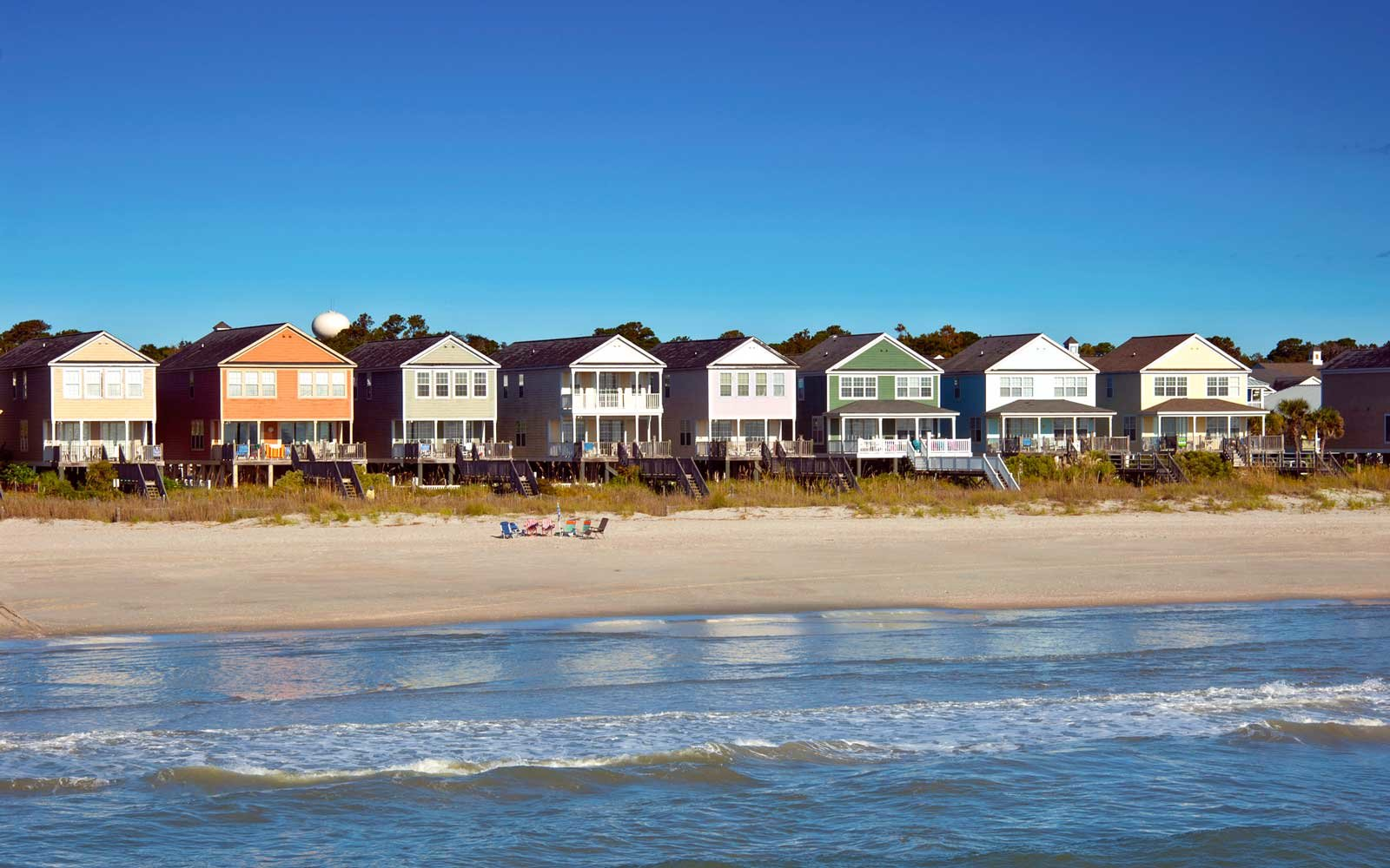 Houses at Surfside Beach, South Carolina
