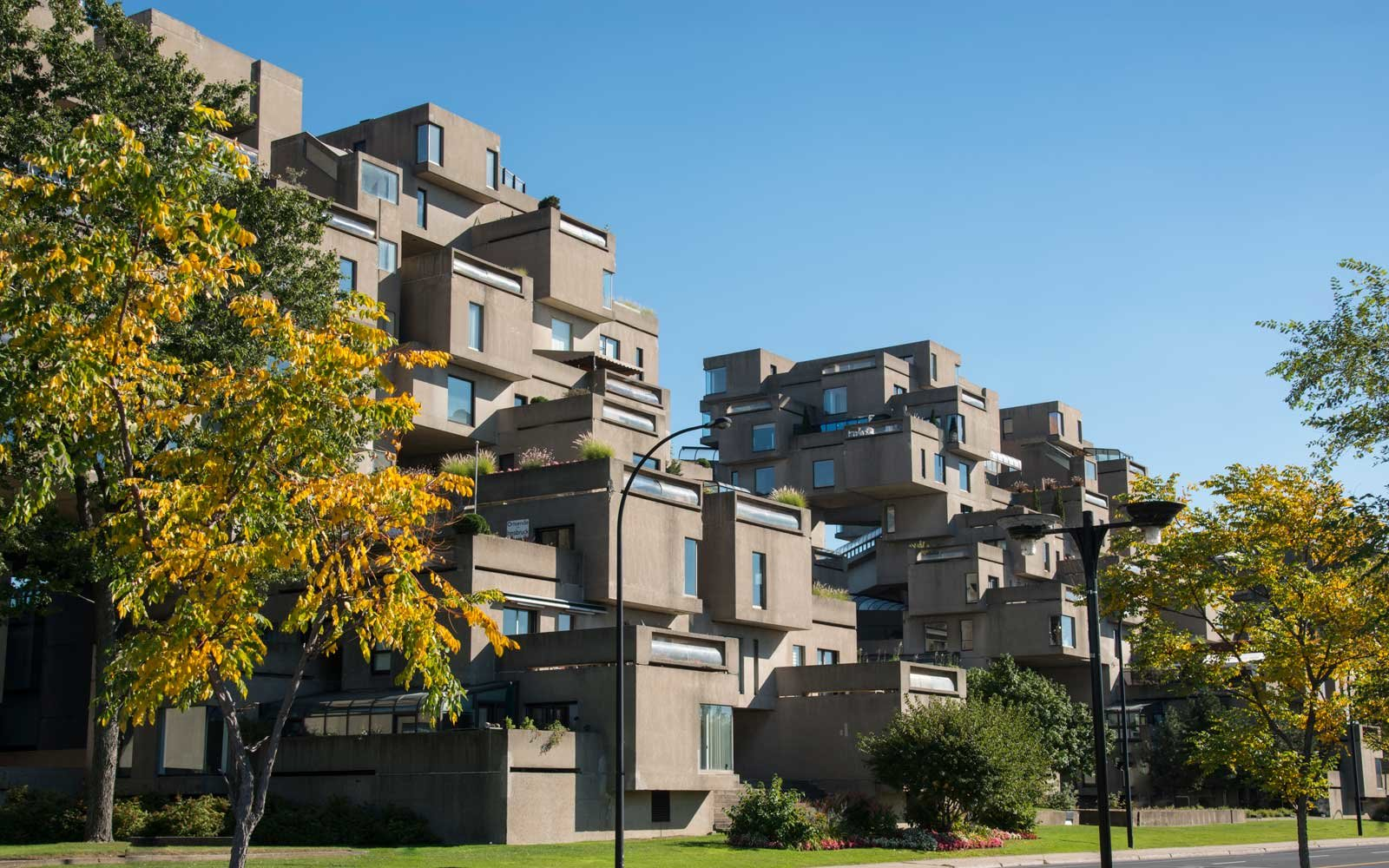 Habitat 67 in Montreal city center