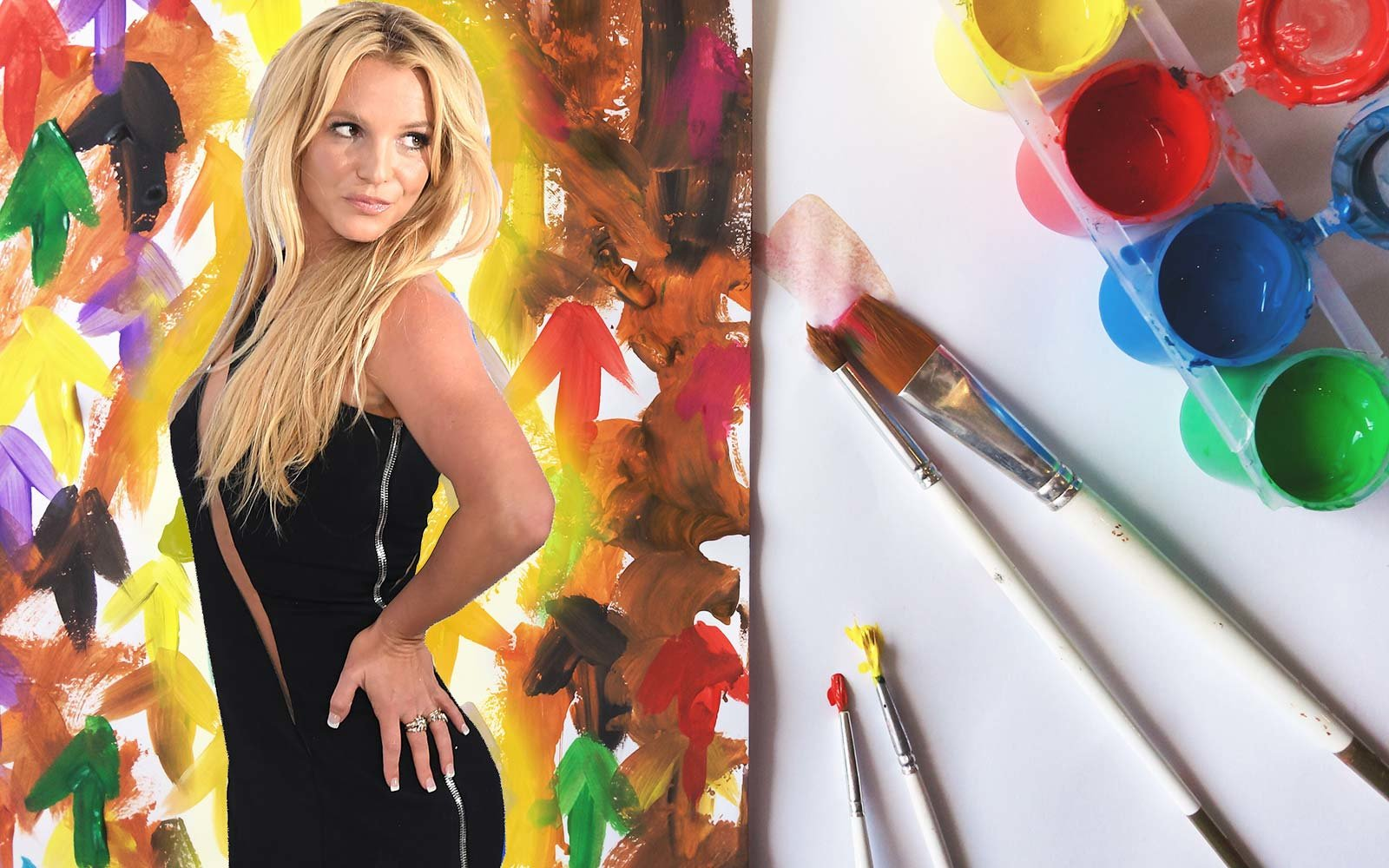 Britney Spears watercolor art painting