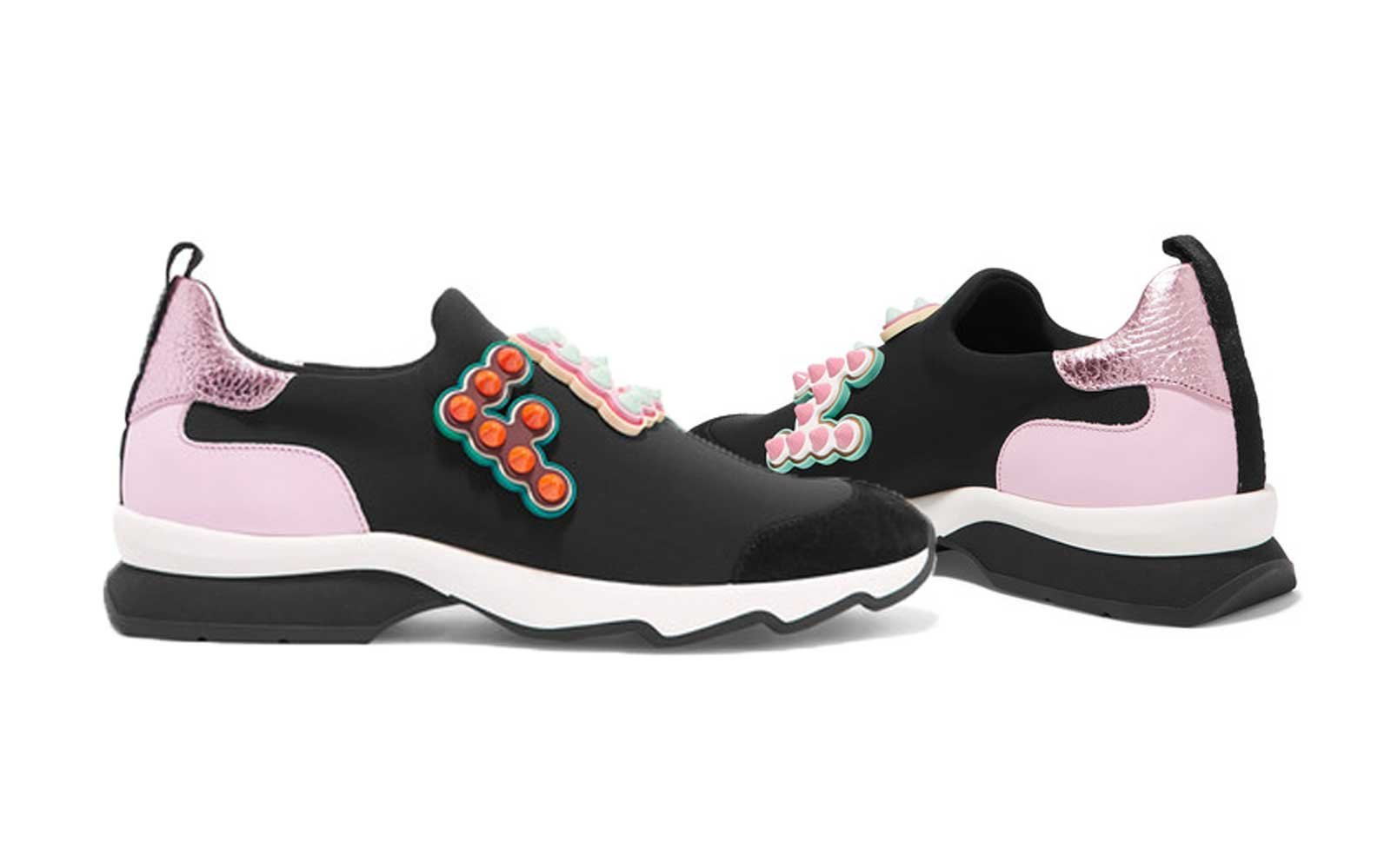 Rome Fendi Neoprene Sneakers