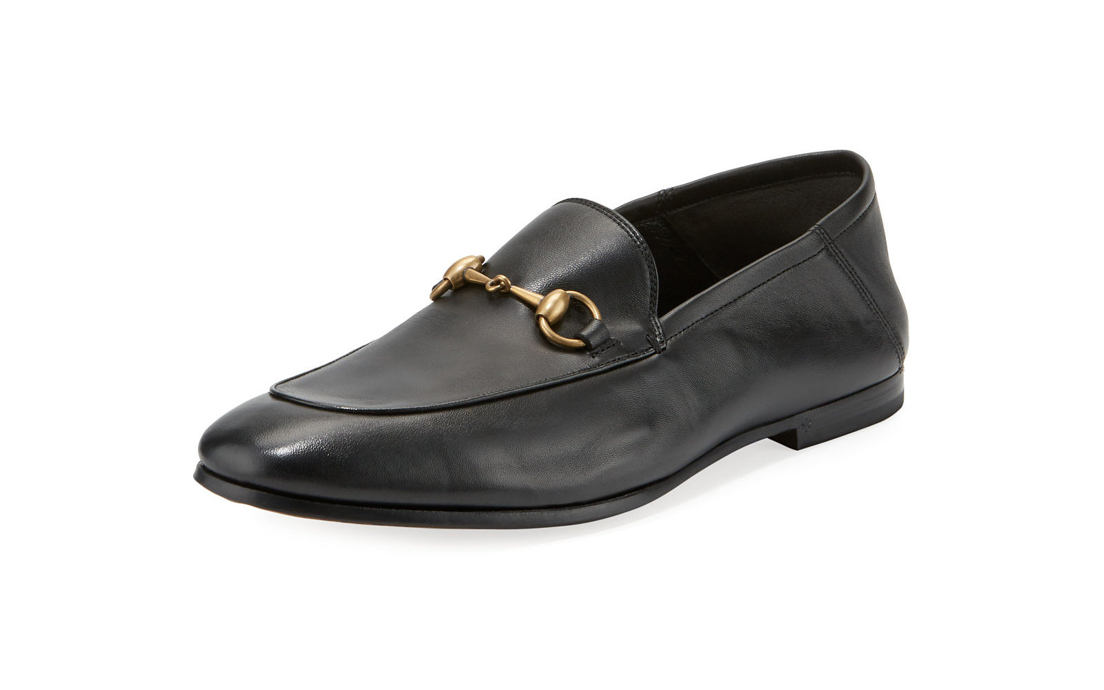 Neiman Marcus Gucci Soft Leather Bit Strap Loafer