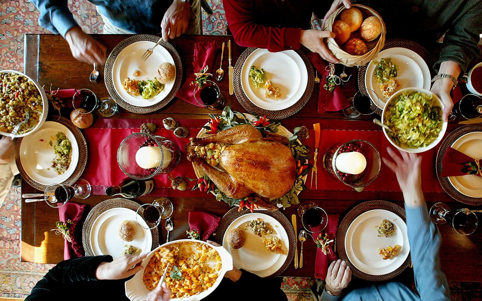 Thanksgiving holiday family dinner celebrate