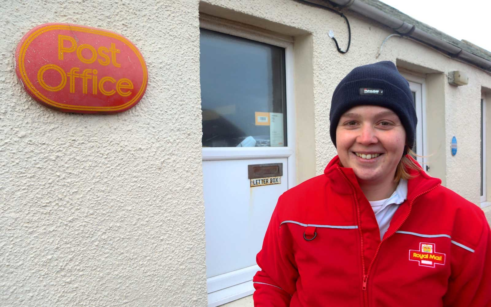 Sarah Moore, 26 from the Scottish island of the Orkneys works as a postwoman