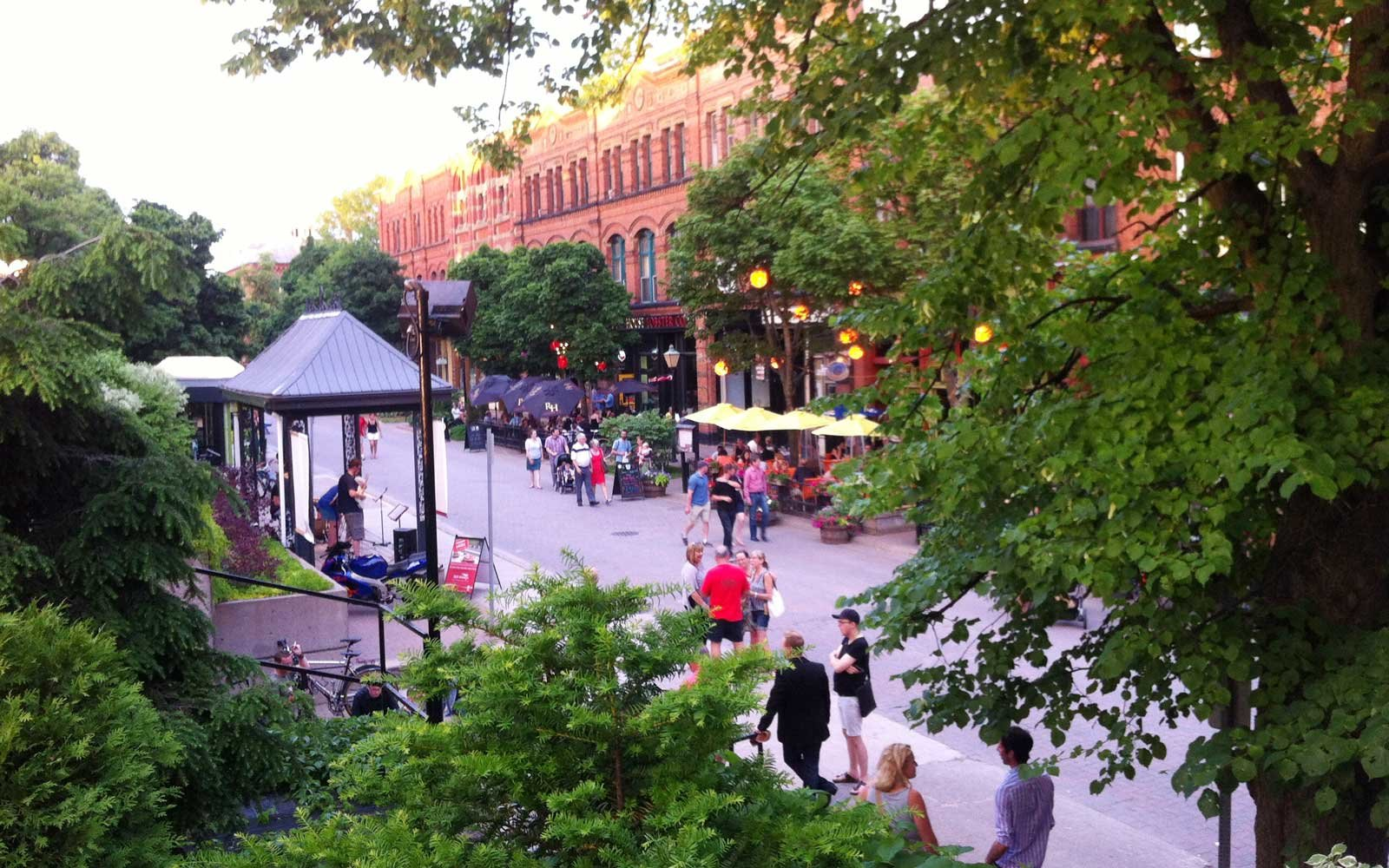 Victoria Row, Charlottetown, Canada, in Summer