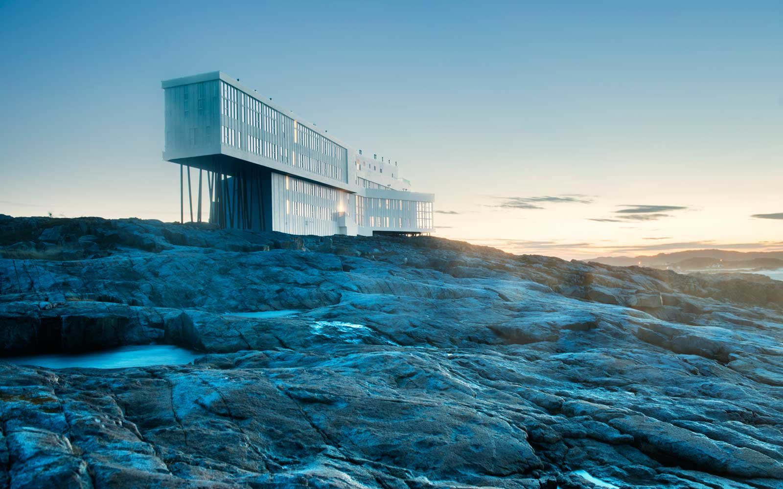 The Fogo Island Inn by Saunder Architecture of Norway, Newfoundland, Canada, North America