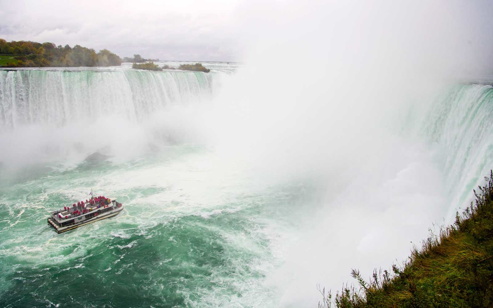 Maid of the Mist at Horseshoe Falls, Canadian side, Niagara Falls